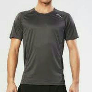 NWT 2XU MENS ICE-X S/S TOP M. GREY